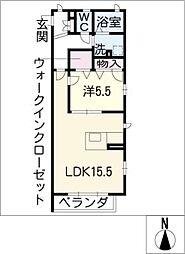 Promenade唐山[2階]の間取り