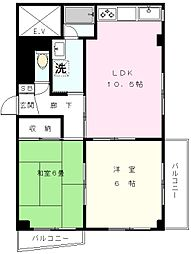JINマンション[305号室]の間取り