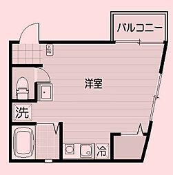 東京都板橋区稲荷台の賃貸アパートの間取り