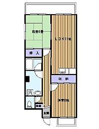 ウエストキャナル[2階]の間取り