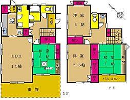 [一戸建] 東京都町田市つくし野4丁目 の賃貸【/】の間取り