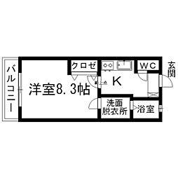 ラ・メール高田[2階]の間取り