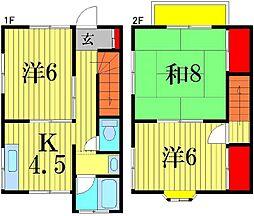 [テラスハウス] 東京都葛飾区高砂3丁目 の賃貸【東京都 / 葛飾区】の間取り