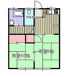 ひかり荘[202号室]の間取り
