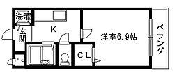 リバーサイド金岡II番館[2階]の間取り