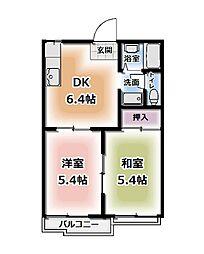 タウニィ・カトレヤ[203号室号室]の間取り