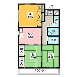 メリーハウスI[3階]の間取り