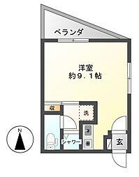アネックスAZUMI[3階]の間取り