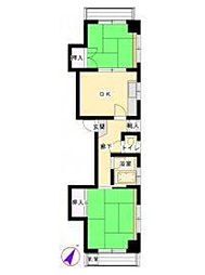 YKマンション[4階]の間取り