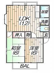 サンビレッジ北神戸C棟[1階]の間取り