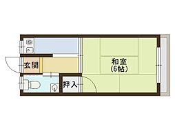 京阪本線 関目駅 徒歩7分の賃貸アパート 3階1Kの間取り