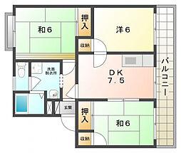 タウニーモイスン[1階]の間取り