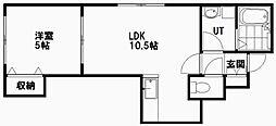 恵比寿 ‐ゑびす‐ 3階1LDKの間取り