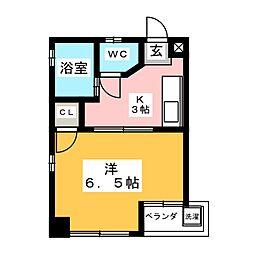 シャトー山田[3階]の間取り