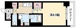OKBアヴェニール菊井町 4階1Kの間取り