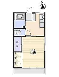 シティハイム五香[2階]の間取り