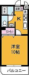レジデンス桜井[302号室]の間取り