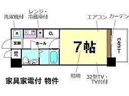 エステートモア箱崎II[3階]の間取り