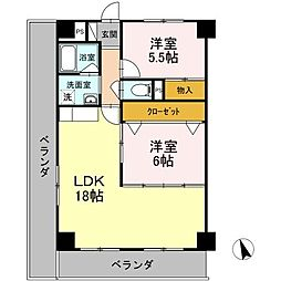 愛知県名古屋市名東区極楽5丁目の賃貸マンションの間取り
