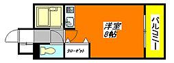 シャトー・アンビシャス103号室[1階]の間取り