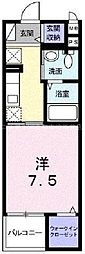 岡山県倉敷市川西町の賃貸マンションの間取り