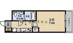 NO77 HANATEN 001 2階1Kの間取り