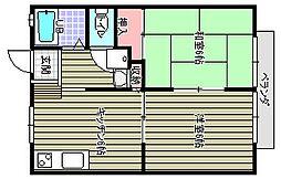 サンビームコーポA[203号室]の間取り