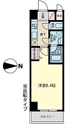 セラヴィ川崎[402号室]の間取り