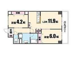 仮称)城東区鈴木マンション[2階]の間取り