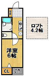 ジュンズタカミ[5階]の間取り