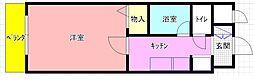 カデンツァK[502号室]の間取り