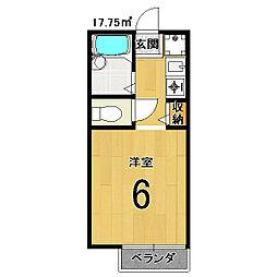 セジュールMAKOTO[102号室]の間取り