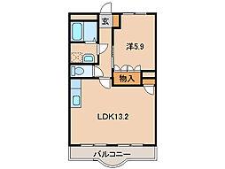 パロ・アルトA[2階]の間取り