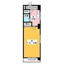 Le Bois De神宮[4階]の間取り