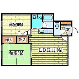 塩井マンション[1階]の間取り