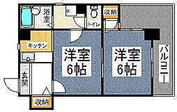 ライオンズマンション四条大宮[306号室]の間取り