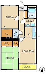 エスポワール富田[3階]の間取り