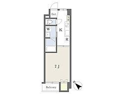 仮)清水町4丁目新築マンション 1階1Kの間取り