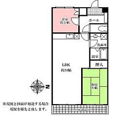 サクシードベル来夢館[4階]の間取り