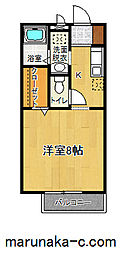 神奈川県相模原市南区上鶴間7の賃貸アパートの間取り