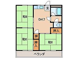 コーポ内田1号棟[2階]の間取り