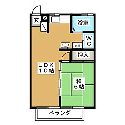 コーポ・グレイ[2階]の間取り