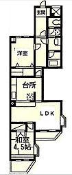 ライオンズマンション中央林間第10[0210号室]の間取り