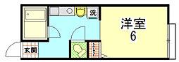 パンションエトワールデュノール[105号室]の間取り