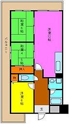 パークサイド北澤[3階]の間取り