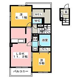 YKヴィレッジ V[2階]の間取り