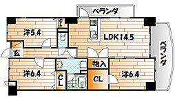 THE SQUARE KOBAI PREMIUM(ザスクエア[4階]の間取り