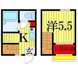 ビラ・モジュール藤崎[2階]の間取り