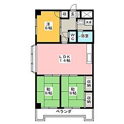 メゾンドベル7[6階]の間取り