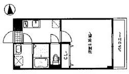 岡山電気軌道清輝橋線 清輝橋駅 徒歩25分の賃貸マンション 4階1Kの間取り